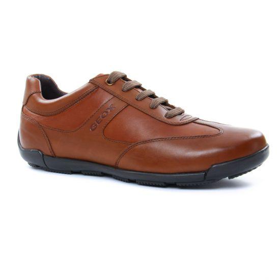 Tennis Geox U743Bb Cognac, vue principale de la chaussure homme