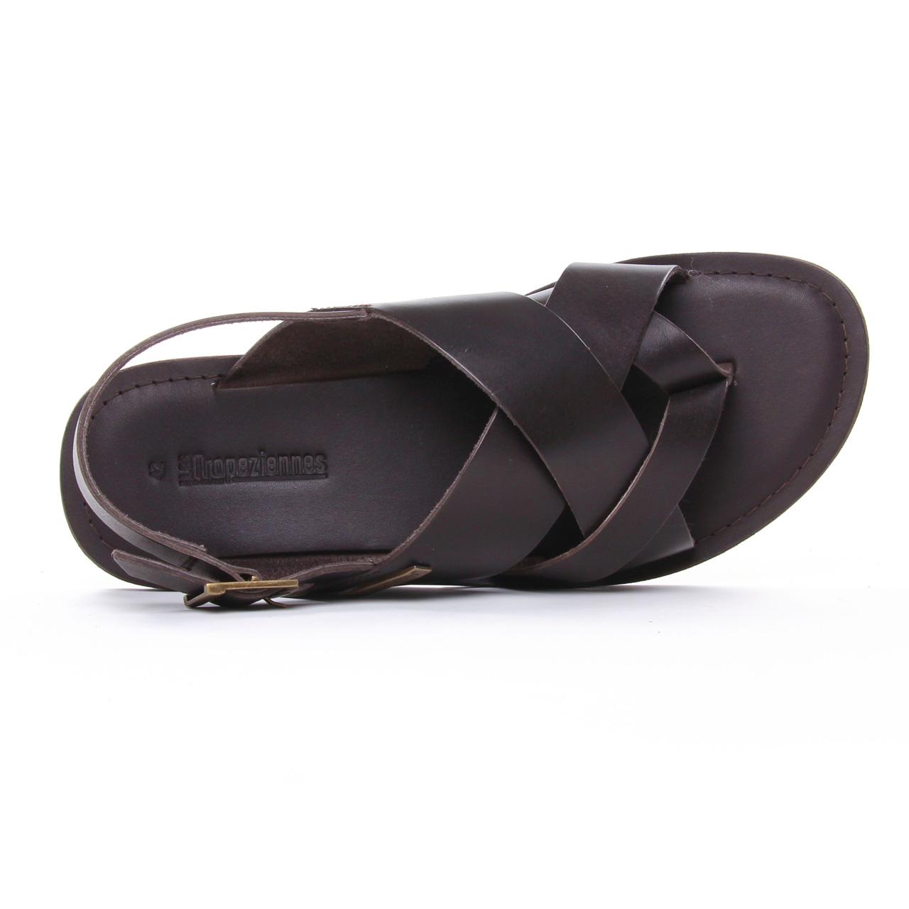Les Tropeziennes Daco Marron | sandales marron printemps été