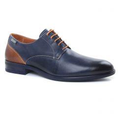 derbys-talon-haut bleu marine: même style de chaussures en ligne pour hommes que les Fluchos
