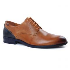 derbys-talon-haut marron: même style de chaussures en ligne pour hommes que les Fluchos