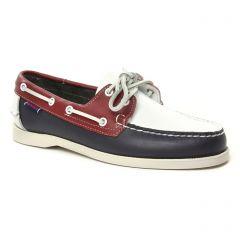 Chaussures homme été 2019 - mocassins bateaux Sebago bleu rouge multi