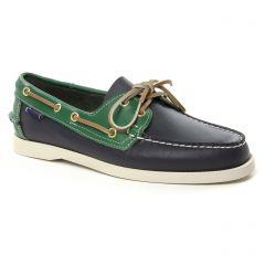 Chaussures homme été 2019 - mocassins bateaux Sebago bleu vert