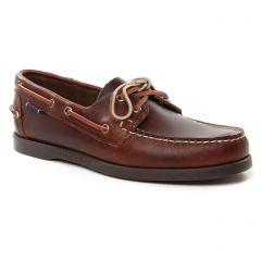 Chaussures homme été 2019 - mocassins bateaux Sebago marron Gum