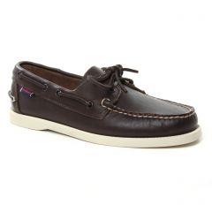 Chaussures homme été 2019 - mocassins bateaux Sebago marron Léa