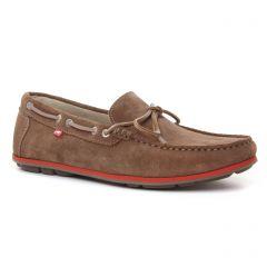 mocassins-bateaux marron taupe: même style de chaussures en ligne pour hommes que les Fluchos