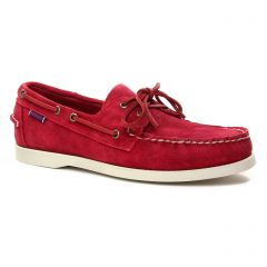 Chaussures homme été 2019 - mocassins bateaux Sebago rouge bordeaux
