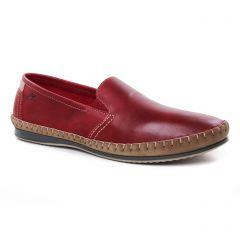 Chaussures homme été 2019 - mocassins Fluchos rouge