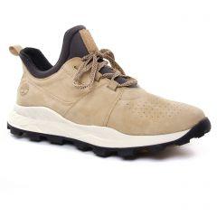 Chaussures homme été 2019 - tennis Timberland beige
