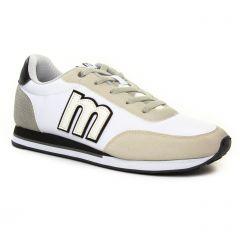 Chaussures homme été 2019 - tennis MTNG blanc beige