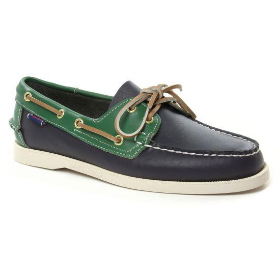 Mocassins Et Bateaux Sebago Portland Bleu, vue principale de la chaussure homme