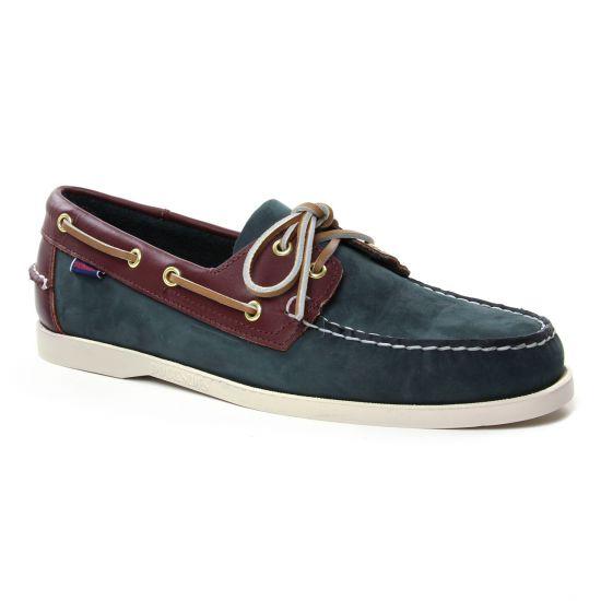 Mocassins Et Bateaux Sebago Spinnaker Bleu Navy, vue principale de la chaussure homme