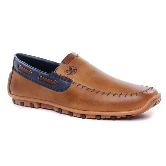 Mocassins Et Bateaux Rieker 08970-25 Toffee Royal, vue principale de la chaussure homme