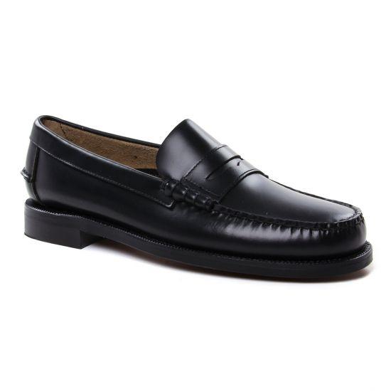 Mocassins Et Bateaux Sebago Classic Black, vue principale de la chaussure homme