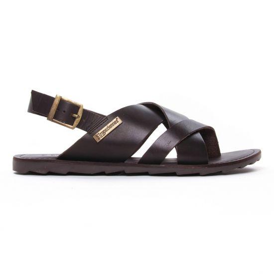 Sandales Les Tropeziennes Daco Marron, vue principale de la chaussure homme