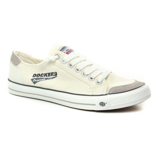 Tennis Dockers 3Osto27 Weiss, vue principale de la chaussure homme