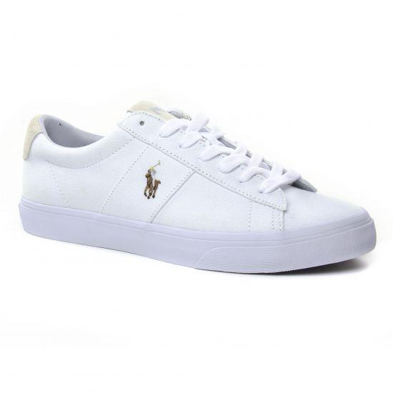 Tennis Polo Ralph Lauren Sayer White, vue principale de la chaussure homme