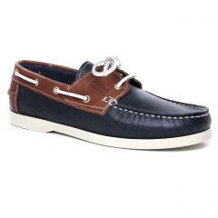 Chaussures homme été 2020 - mocassins bateaux yann bolligen marine marron