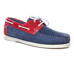 Chaussures homme été 2020 - mocassins bateaux yann bolligen marine rouge