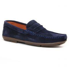 mocassins bleu marine: même style de chaussures en ligne pour hommes que les Yann Bolligen