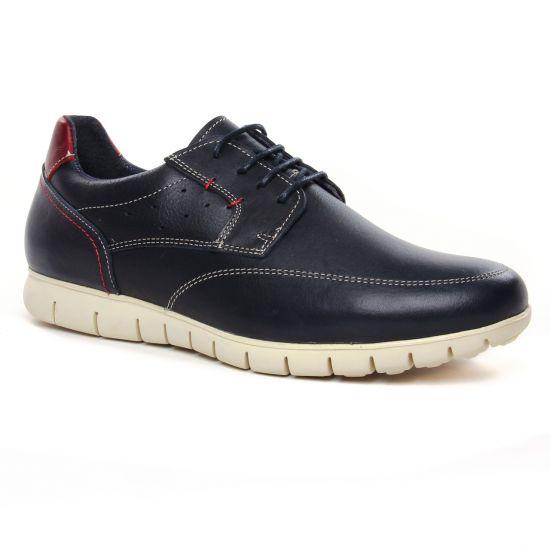 Chaussures Basses À Lacets Yann Bolligen 2029 Marine, vue principale de la chaussure homme
