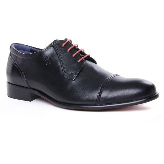 Chaussures Basses À Lacets Fluchos 9028 Noir, vue principale de la chaussure homme