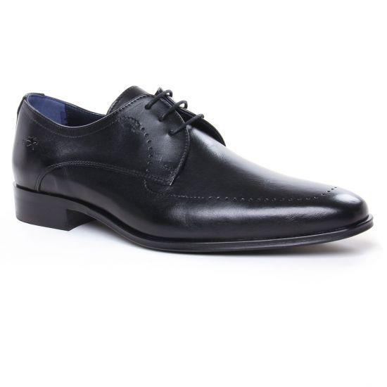 Chaussures Basses À Lacets Fluchos F0492 Noir, vue principale de la chaussure homme