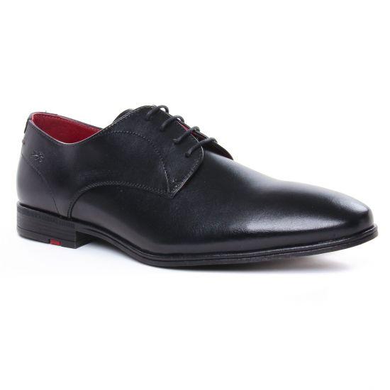 Chaussures Basses À Lacets Fluchos F0842 Noir, vue principale de la chaussure homme