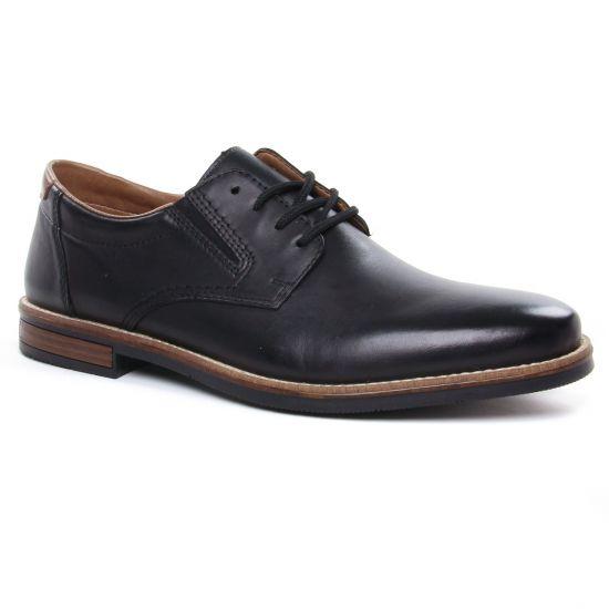 Chaussures Basses À Lacets Rieker 13524-00 Nero, vue principale de la chaussure homme