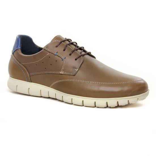 Chaussures Basses À Lacets Yann Bolligen 2029 Kaki, vue principale de la chaussure homme