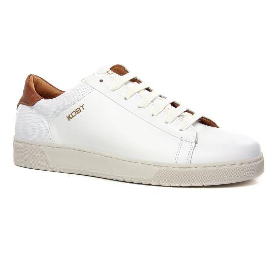 Tennis Kost Battle36 Cognac, vue principale de la chaussure homme