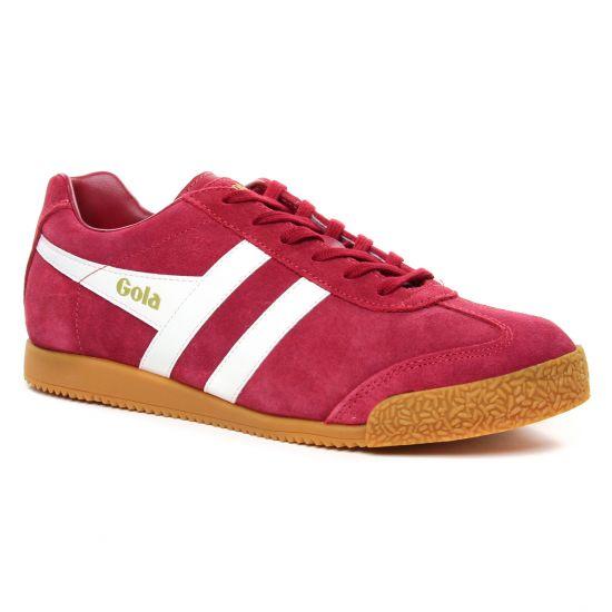 Tennis Gola Harrier Red White, vue principale de la chaussure homme