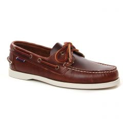 Chaussures homme été 2021 - mocassins bateaux Sebago marron blanc