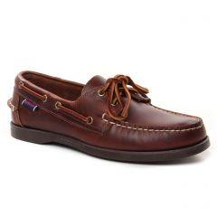 Chaussures homme été 2021 - mocassins bateaux Sebago marron foncé