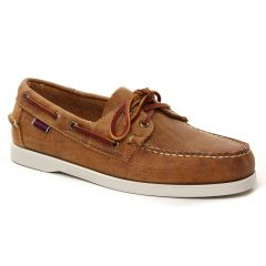 Chaussures homme été 2021 - mocassins bateaux Sebago marron