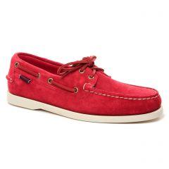 Chaussures homme été 2021 - mocassins bateaux Sebago rouge
