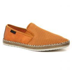 Chaussures homme été 2021 - mocassins rieker marron orange