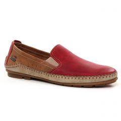 mocassins rouge marron: même style de chaussures en ligne pour hommes que les Fluchos