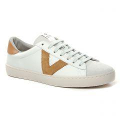 Chaussures homme été 2021 - tennis Victoria blanc marron