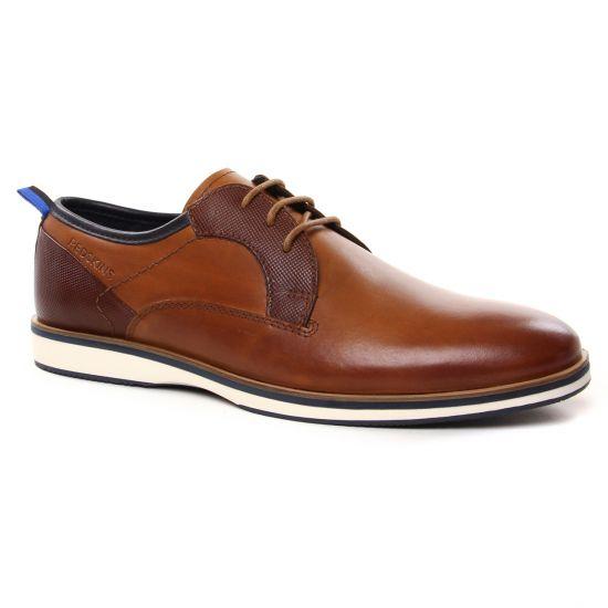 Chaussures Basses À Lacets Redskins Pyramidal Cognac Marine, vue principale de la chaussure homme