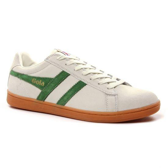 Tennis Gola Equipe Suede Off White Green, vue principale de la chaussure homme