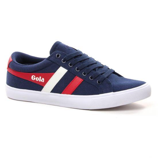 Tennis Gola Varsity Navy Red, vue principale de la chaussure homme