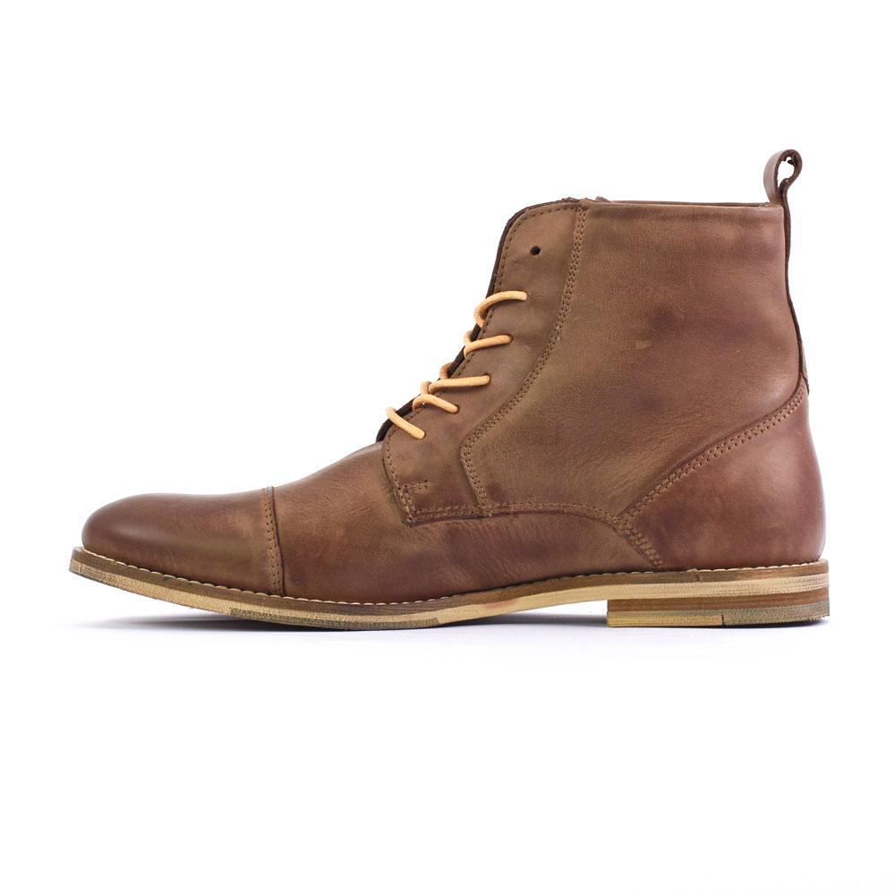 e7406970b60 chaussures montantes marron mode homme automne hiver vue 3