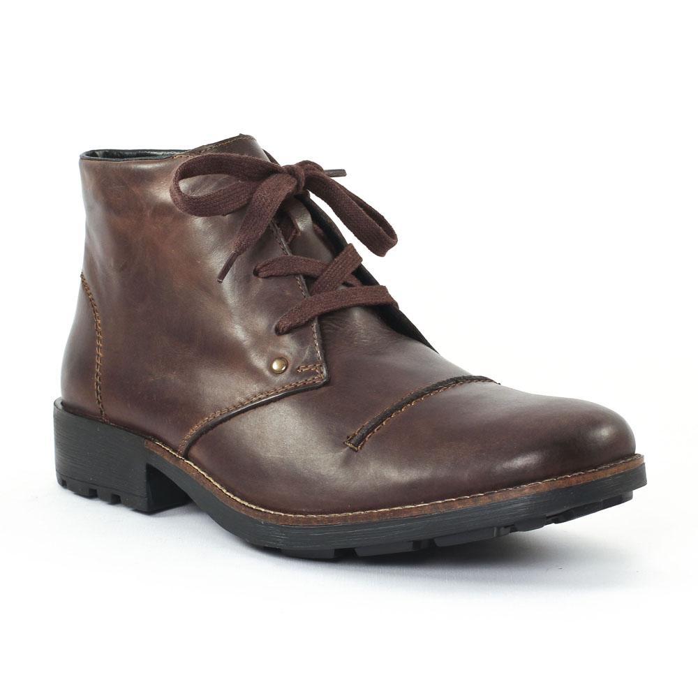 rieker 36000 nougat chaussure montantes marron automne hiver chez trois par 3. Black Bedroom Furniture Sets. Home Design Ideas