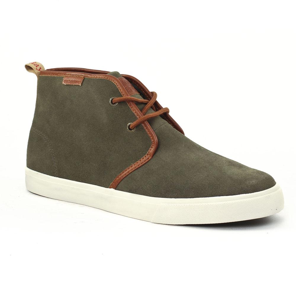 chaussures montantes vert kaki mode homme automne hiver vue 1