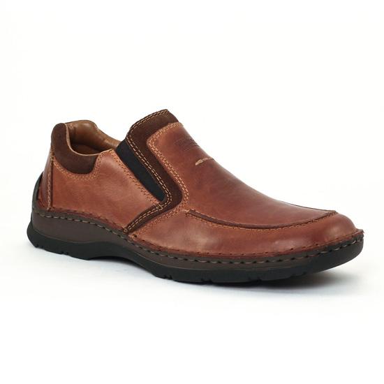 Mocassins Et Bateaux Rieker 05354 Marrone, vue principale de la chaussure homme