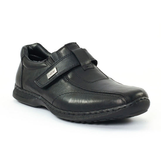 Mocassins Et Bateaux Rieker 0473 Schwarz, vue principale de la chaussure homme
