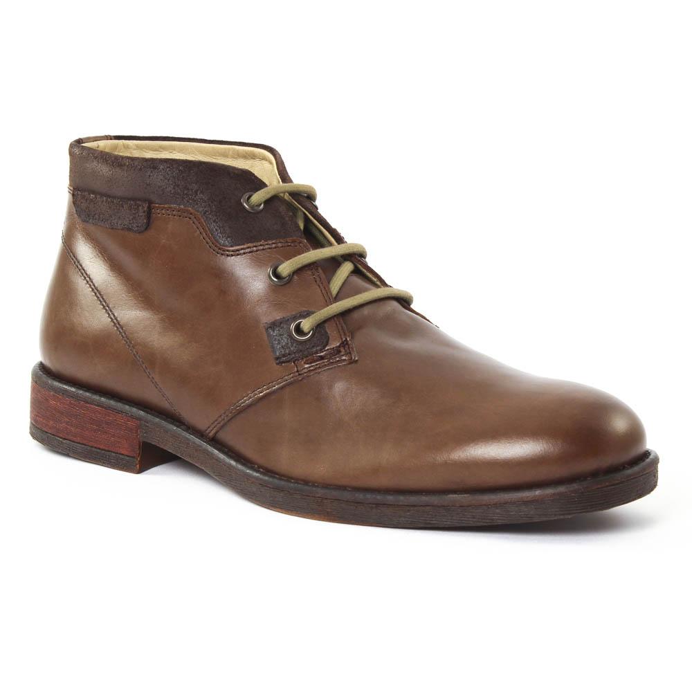 9846cf5400d chaussures montantes marron mode homme automne hiver vue 1