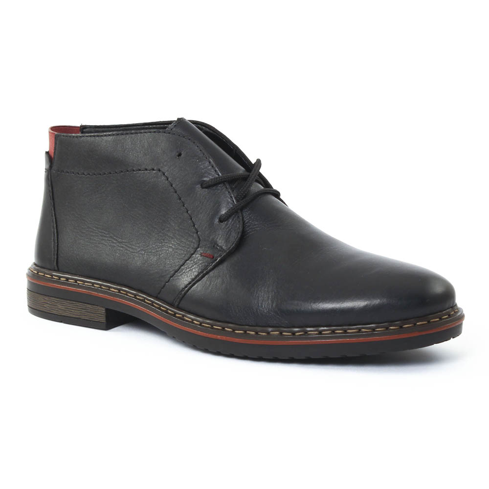 rieker 30423 schwarz chaussure montantes noir automne hiver chez trois par 3. Black Bedroom Furniture Sets. Home Design Ideas