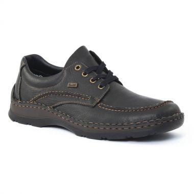 Chaussures Basses À Lacets Rieker 05312 Schwarz, vue principale de la chaussure homme
