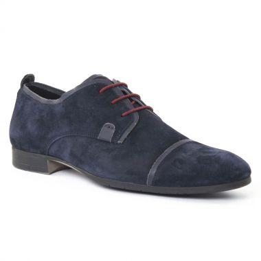 Chaussures Basses À Lacets Amoroso Andy Marine, vue principale de la chaussure homme